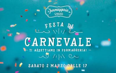 Crea la tua maschera di Carnevale in Formaggeria