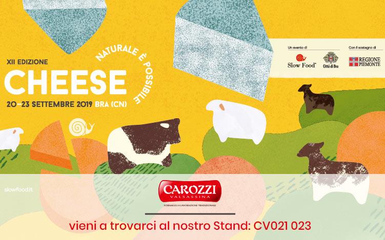 Carozzi a Cheese 2019: vi aspettiamo a Bra e Pollenzo