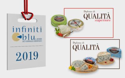 """I formaggi Carozzi premiati al concorso nazionale """"Infiniti Blu"""""""